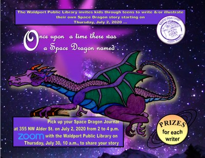 "Kids & Teens Write & Illustrate ""Your Own Dragon in Space Story."""