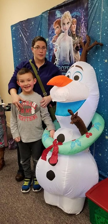 Mom, me and Olaf!