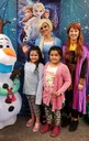 My sister and me having fun at Frozen Family Math Bingo  Night!