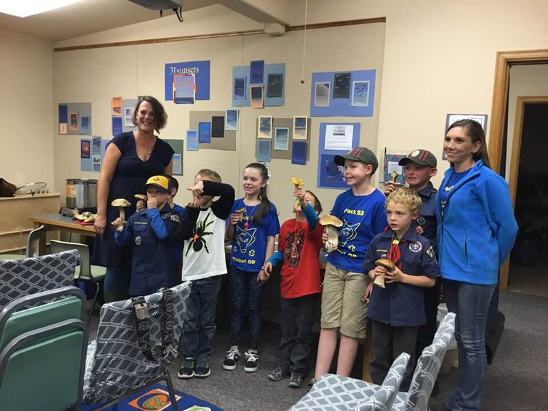 Local Cub Scouts engage in nature & food  education....