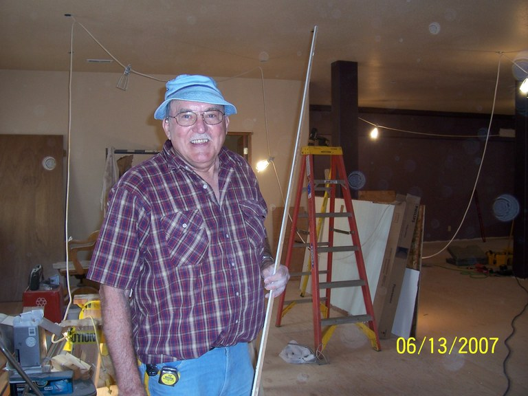 Norm Hooker working on electrical!