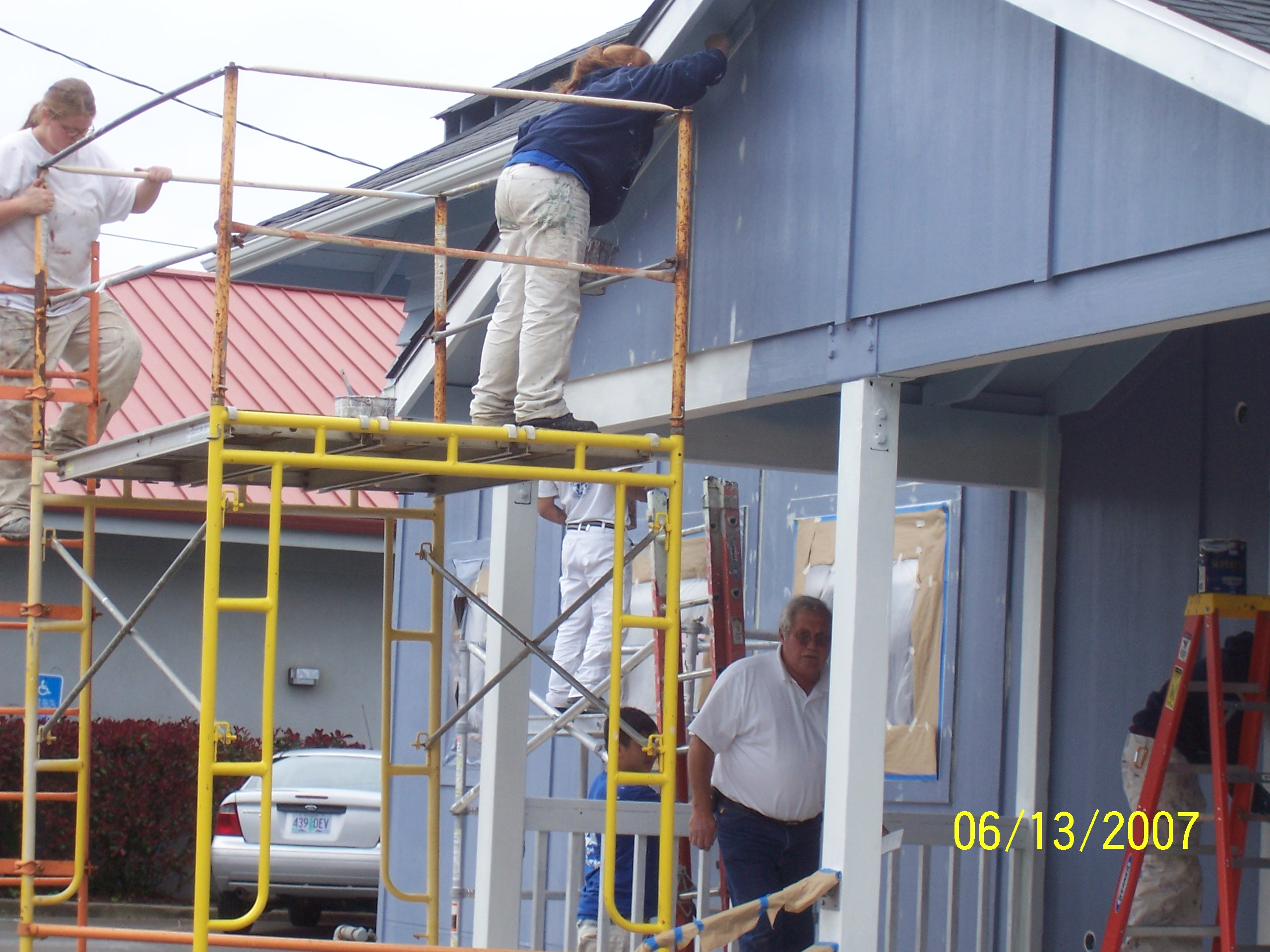 Job Corps. cleaning, taping, and primering building!