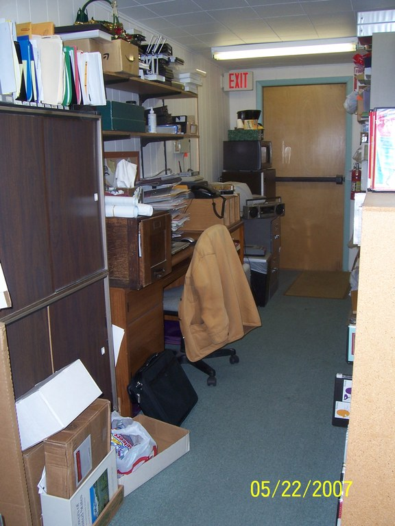 Jill Tierce's temporary office!