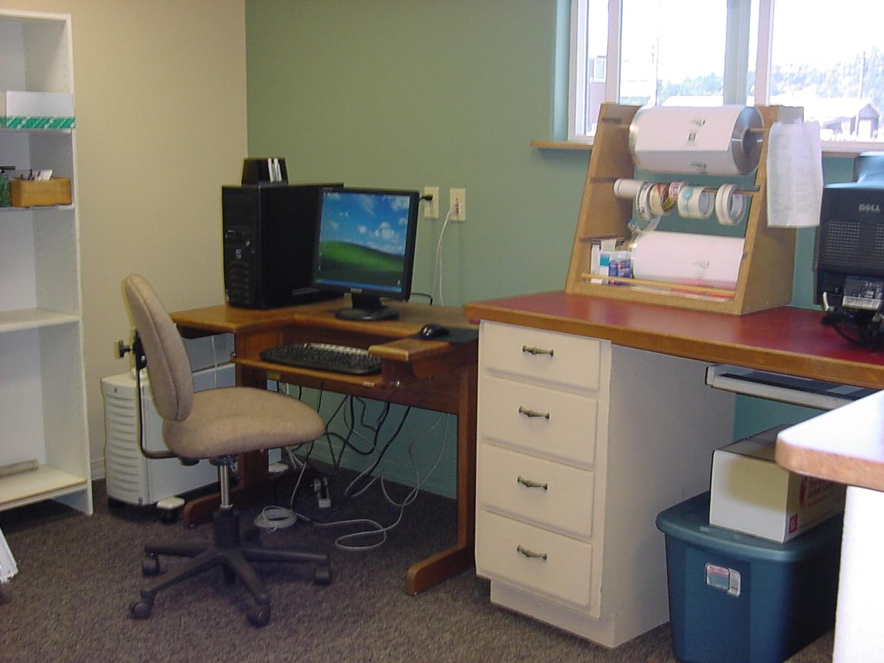 Library Staffs Work Area