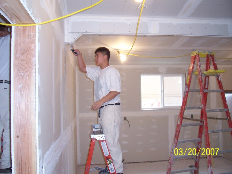 Angell Job Corps student Tan Ngo working at it!
