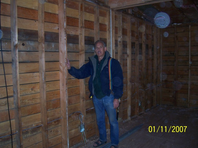 Volunteer Electrician Ted Harber