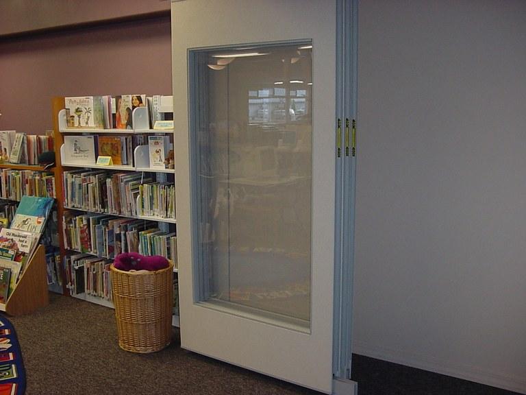 New library community meeting door!