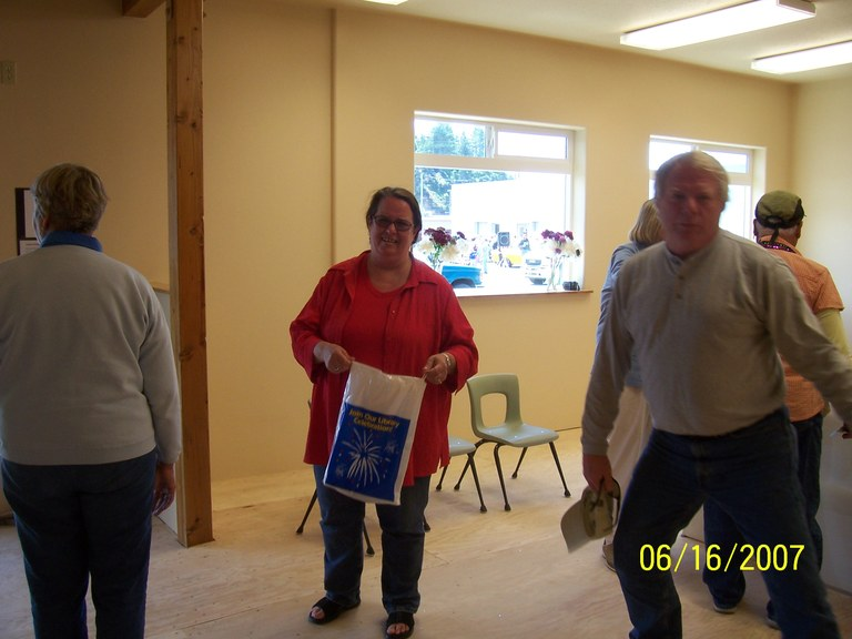 Pam Fodness assists with Open House!