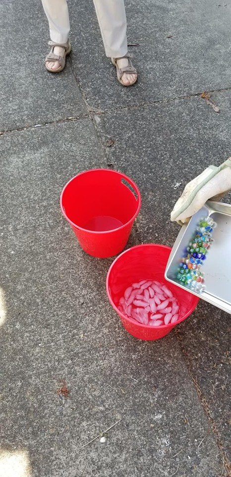 The science of ice cracking marbles..