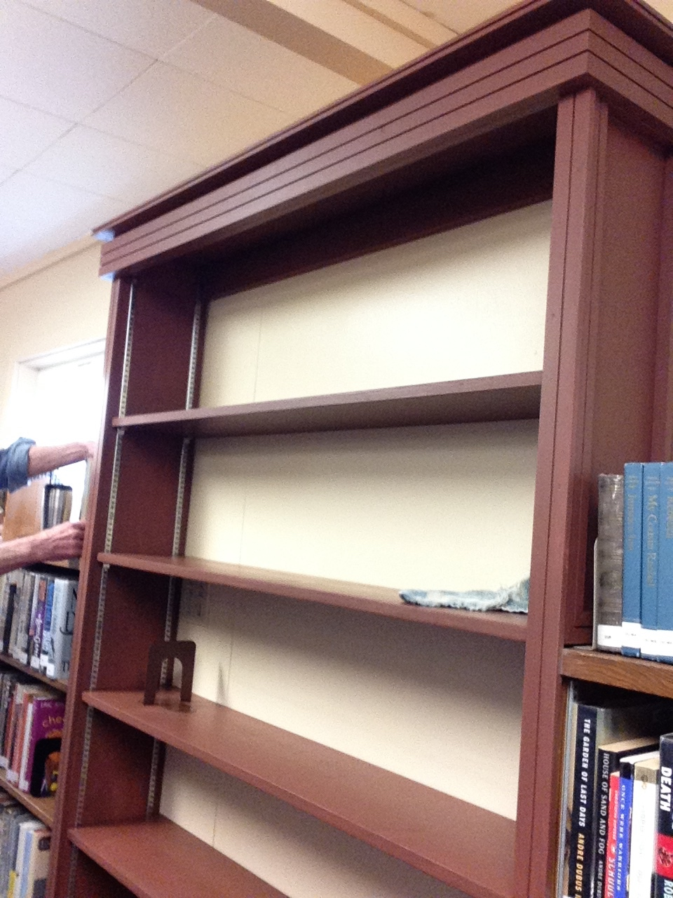 Our new fiction bookshelves- Yes!!