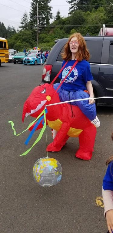 A Dinosaur's Day @ Waldport Beachcomber Parade!