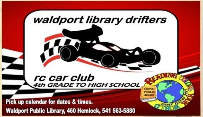 Waldport Library Drifters RC Car Club for 4th Grade-High School!