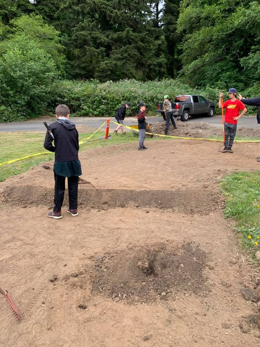 Laying Out Track With Dirt Jumps!